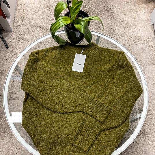 ICHI, Pullover grün