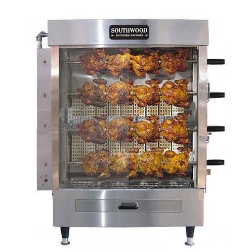 New Southwood RG4 20 Chicken Capacity Chicken Rotisserie Machine Gas 56,700 BTU