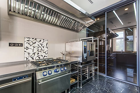 Interior of professional kitchen. Applia