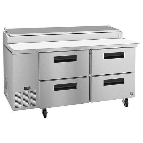 "New Hoshizaki PR67A-D4 67"" 4 Drawer Refrigerated Pizza Prep Table"