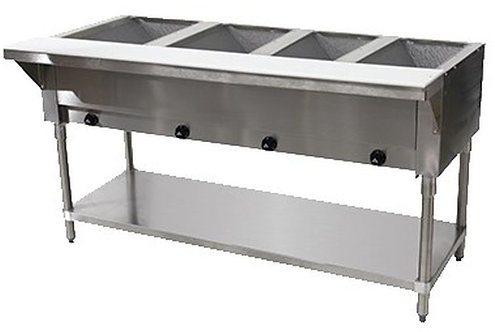 """New Cookline GTS4 (59"""") 4 Wells Steam Table Natural Gas"""