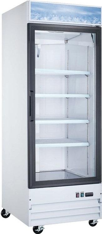 "New Coldline D12-W (1) Door Glass Freezer 27"" L White Installed Castors"