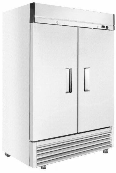 New Genkraft GST49-BR Double Solid Stainless Steel Door Refrigerator, 49 Cu. Ft.