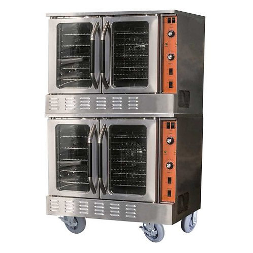 New Cookline CC100-DBL 38″ Gas Double Deck Full-Size Convection Oven 108,000 BTU