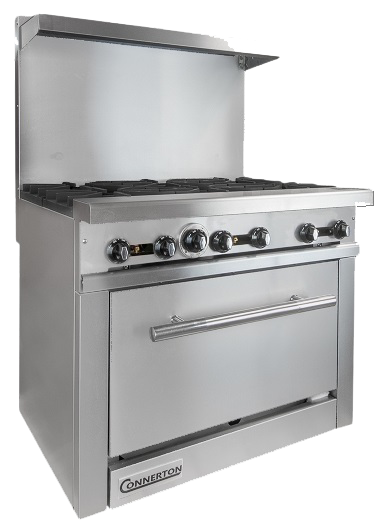 New Connerton CN-36 Heavy Duty (6) Burner Range With Standard Oven Natural Gas