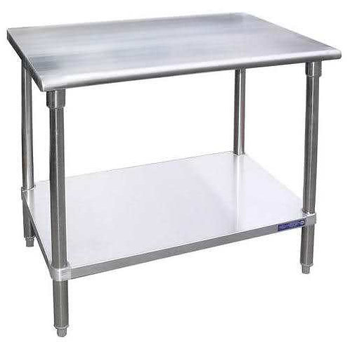 "New 24"" X 48"" Stainless Steel Work Table W/ Galvanized Under Shelf"