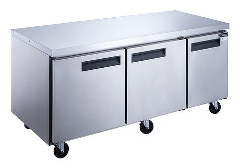 New Dukers DUC72F 3-Door Undercounter Commercial Freezer in S/S