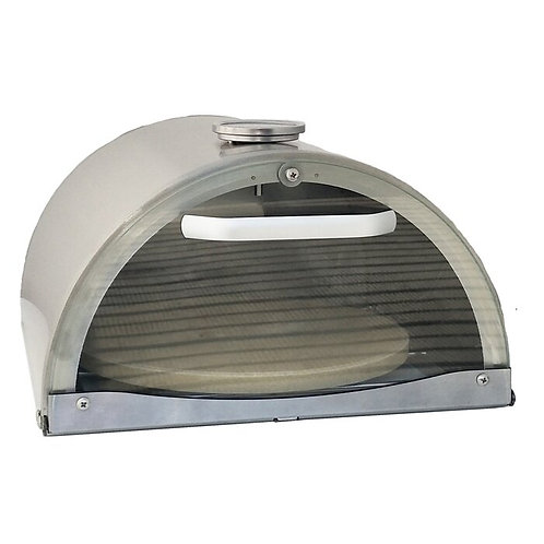New Stainless Steel Countertop Natural Gas Pizza Oven in Silver (Residential)