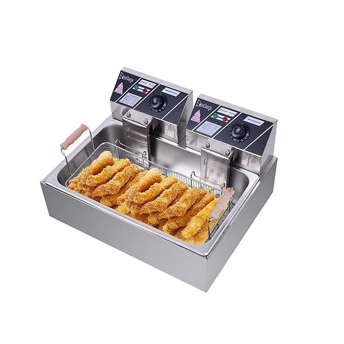 New Zokop 5000W Commercial Stainless Steel Electric Deep Fryer, 22L Tank 120V