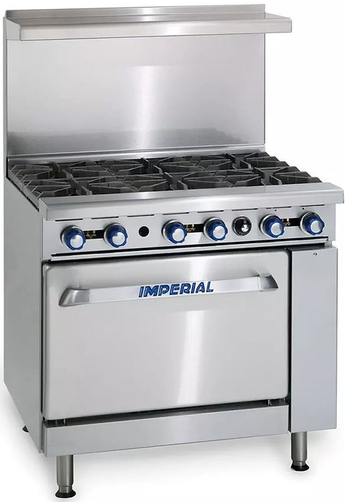 Imperial IR-6 (6) Burner Range With Standard Oven Natural Gas