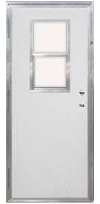 """New 30"""" x 72"""" Out-Swing Door With Window & Frame"""