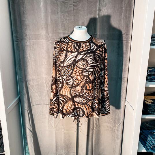 Sweatshirt, Barbara Lebek braun mit Muster