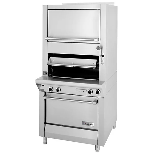 New Garland M100XSM Heavy Duty Upright Infared Broiler With Oven 70K BTU