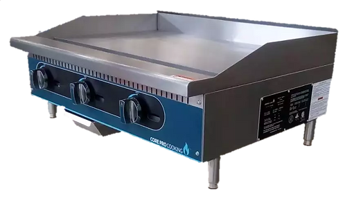 "New Core Pro 36"" Electric Thermostatically Controlled Flat Griddle 208V/1PH"