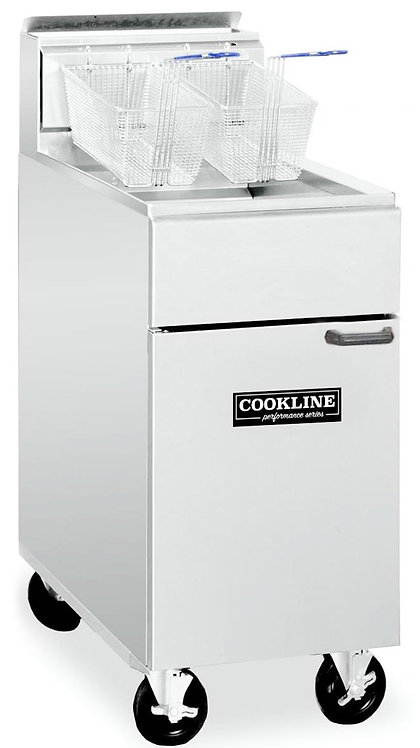 New Cookline 40 LB Deep Fryer Natural Gas Model CF-40