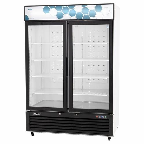 New Migali C-49RM-HC 49 cu/ft Double Glass Door Merchandiser Refrigerator