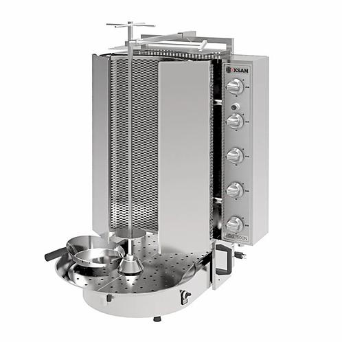 New Inoksan PDG500NR-NAT, 200 Lbs Gas Gyro Machine, Bottom Motor, Robax Glass
