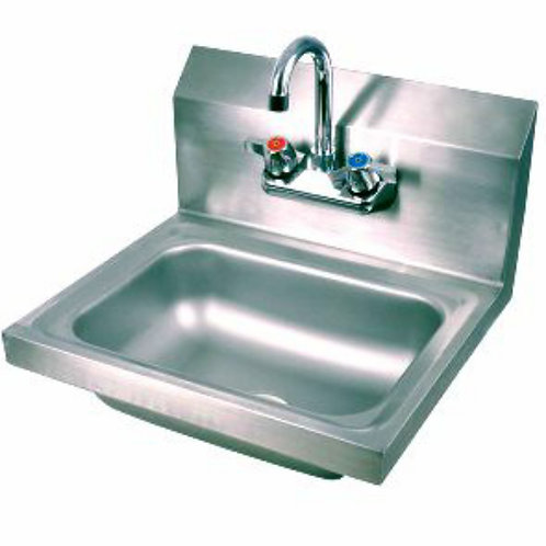 New Prepline PHS16 Wall Mount S/S Hand Sink With Faucet & Drain