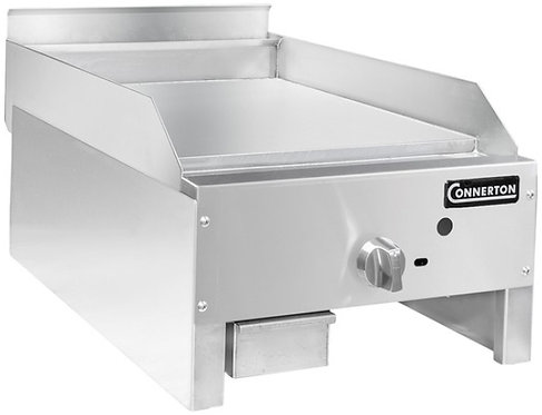"""New Connerton CG-24-M (24"""") Manual Flat Griddle 1"""" Grilling Plate Thickness NG"""