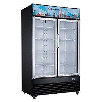 "New Dukers DSM-33R 40"" Two Glass Hinged Door Refrigerator"