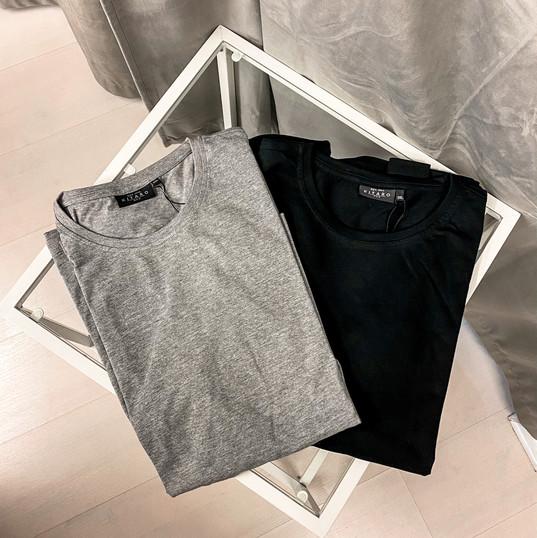 Langarmshirt, Kitaro grau & schwarz