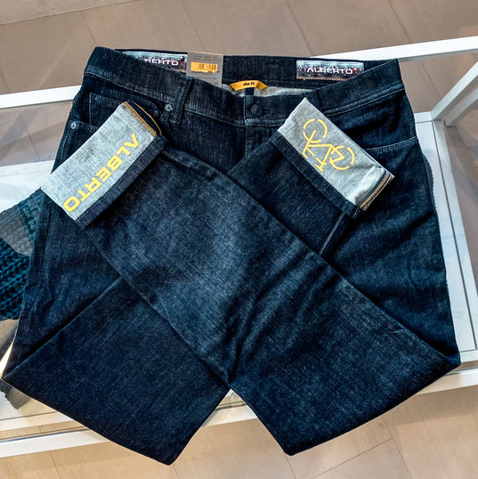 Herren Jeans, Alberto (dunkel)