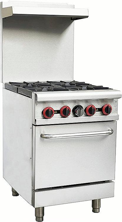 New Magic Chef M24GR Medium Duty (4) Burner Range With Standard Oven NG