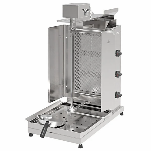New Inoksan PDG103M NG Gyro Machine, Top Motor, 3 Double Burner