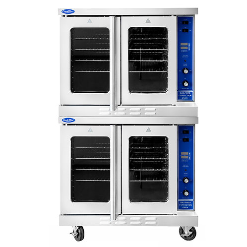 New CookRite ATCO-513B-2 Double Convection Oven Including Legs & Castors 92K BTU