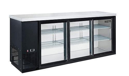 """New Dukers DBB72-S3 72"""" Back Bar Cooler (Sliding Door)"""