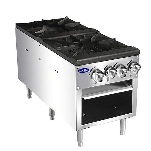 New CookRite ATSP-18-2 NAT GAS Double Stock Pot Stove