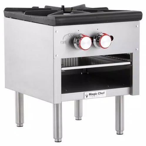 New Magic Chef MCCSR1A Single Heavy Duty Stock Pot Burner Natural Gas