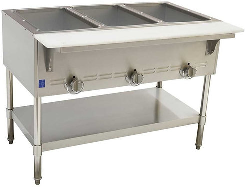 """New Cookline GTS3 (45"""") 3 Wells Steam Table Natural Gas"""