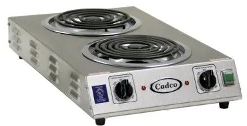 "New Cadco CDR-2TFB 13 1/2"" Electric Hotplate w/ (2) Burners & Infinite Controls"