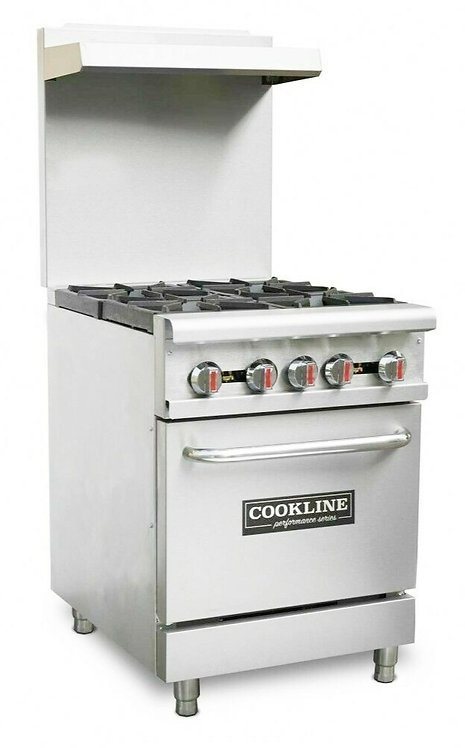 New Cookline CR24-4 (4) Burner Range With Standard Oven Natural Gas 151,000 BTU