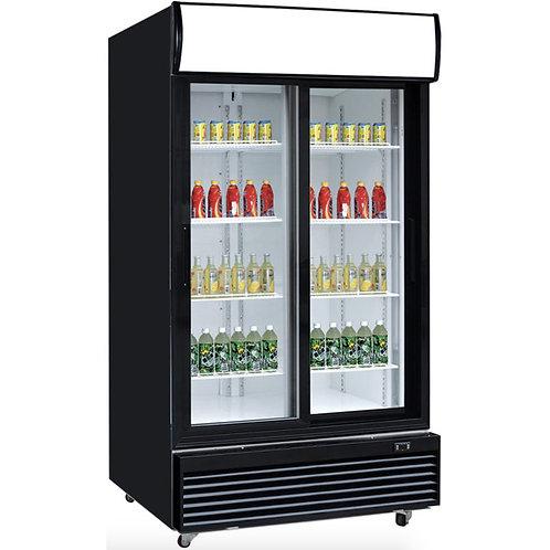 """New Dukers DSM-32SR (39.5"""") Two Glass Sliding Door Refrigerator"""