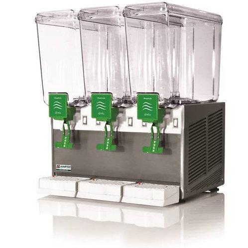 New AMPTO C1316 2.4 Gallon Triple Head Cold Beverage Dispenser