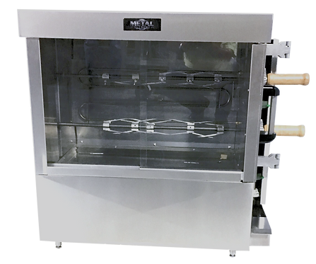 New Metal Supreme FRG2VE Gas Chicken Rotisserie - 8 Chicken