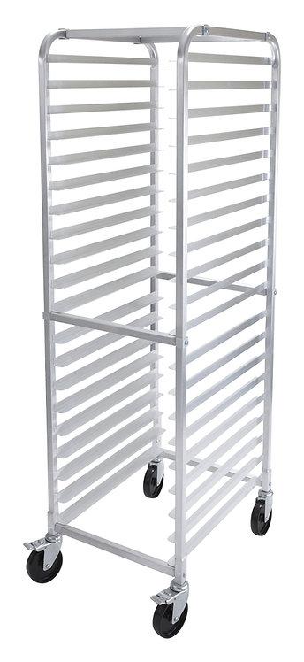 New Winco ALRK-20BK 20-Tier Aluminum Sheet Pan Rack with Brakes