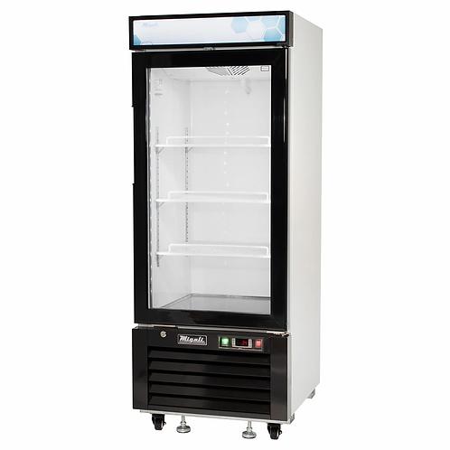 New Migali C-10RM-HC 10 cu/ft Glass Door Merchandiser Refrigerator