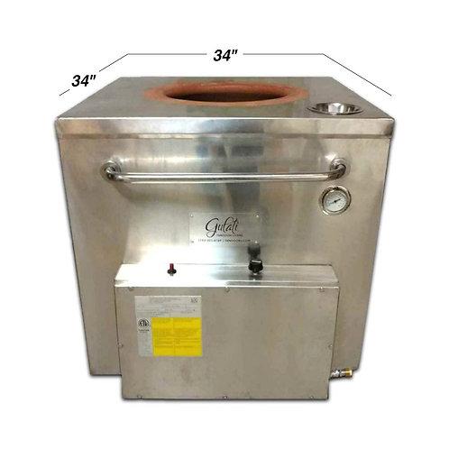 "New Gulati 34"" x 34"" Tandoor Clay Oven Natural Gas"