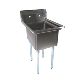 """New Stainless Steel Sink 24"""" X 24"""" Single Compartment Sink"""