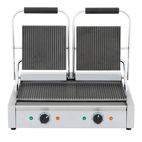 "New Cookline PG-2 Double Panini Sandwich Press (18.5"" x 10"" Surface) 120V"
