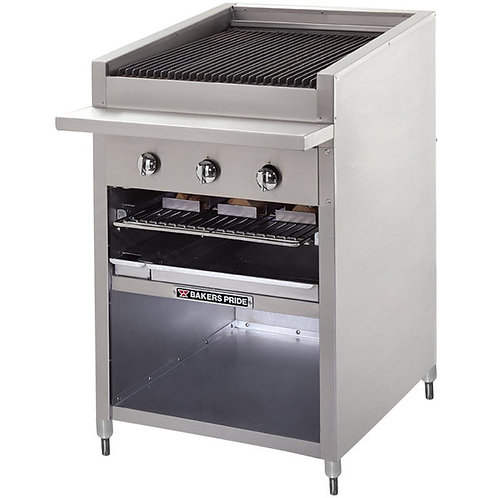 "New Bakers Pride F-48GS NG 48"" Floor Model Glo Stone Charbroiler - 198,000 BTU"