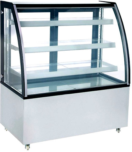 """New Marchia MBT48 48"""" Curved Glass Refrigerated Bakery Display Case, High Volume"""