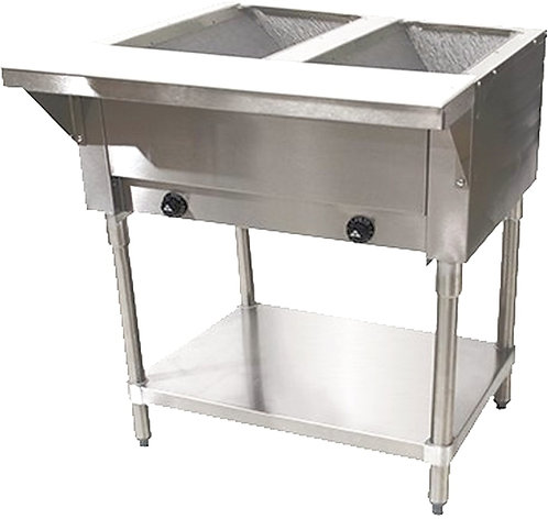 "New Cookline GTS2 (31"") 2 Wells Steam Table Natural Gas"