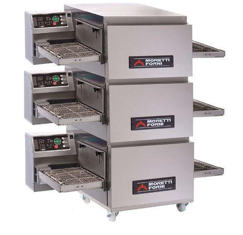 New Moretti Forni T64E-3 Triple Electric Conveyor Pizza Oven
