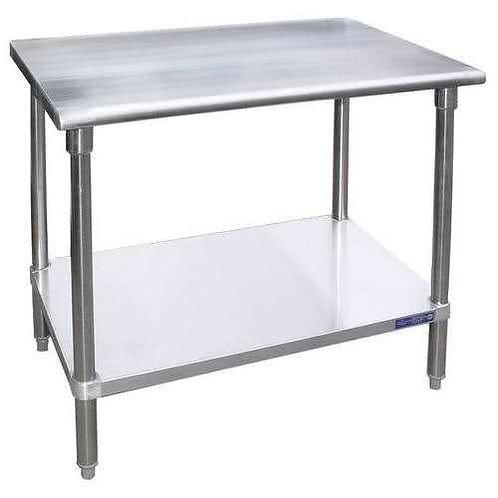 "New 30"" X 48"" Stainless Steel Work Table W/ Galvanized Under Shelf"