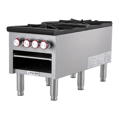 New Magic Chef MCCSR2A Double Heavy Duty Stock Pot Burner Natural Gas