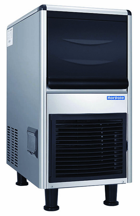 New Norpole NPCIM90B (90 LB) Ice Machine, Air Cooled, Half Cube Style